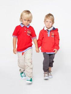 Koszulka polo chłopięca, czerwona Happy Kids. #boyswear