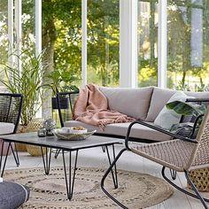 Salon de jardin scandinave style ethnique de la marque Bloomingville - coupdecoeur-design.fr