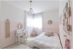 חדר לילדה בגוונים של אפרסק ונגיעות קש וזהב חדר מפנק וקסום במיוחד