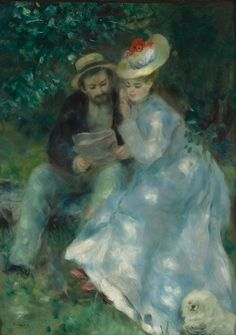 """Confidences"" (Secrets) (Circa 1874) by Pierre-Auguste Renoir …"