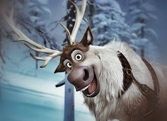 Disney - Frozen - Sven the reindeer - He is the cutest thing! He has the best facial expressions! Disney Animated Movies, Disney Films, Disney And Dreamworks, Disney Pixar, Disney Cartoons, Disney Characters, Sven Frozen, Frozen And Tangled, Disney Frozen