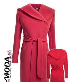 Nádherný červeno-oranžový zimný dámsky kabát v dĺžke po kolená. - trendymoda.sk Jackets, Fashion, Down Jackets, Moda, Fashion Styles, Fashion Illustrations, Jacket