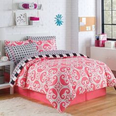 Kennedy Reversible Comforter Set - BedBathandBeyond.com  comes in three different colors for $ 79.99