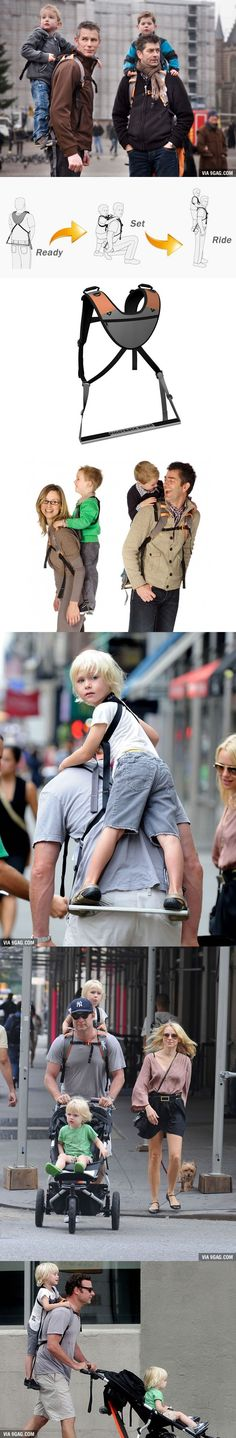 "I would definitely buy this ""Piggyback Rider"" for my kids when I become a parent!"