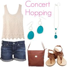 Great #summeroutfit love the teal #necklace and #earings