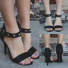 Peep Toe Ankle Strap Stud Detail Heel – UOIOnline.com: Women's Clothing Boutique