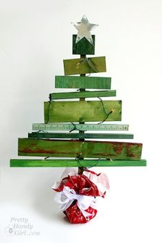 scrap wood Christmas tree by Summer child