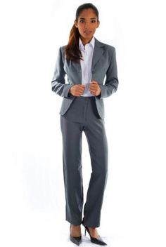 Terno Social Oxford Cinza - Uniforme Feminino - Yoshida Hikari - Uniformes  Sociais para Empresas - uniformes sob medida 4894552a31b