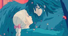 Everything Ghibli can be found here! We love Studio Ghibli – the works of Hayao Miyazaki, Goro. Got Anime, Anime Love, Anime Manga, Anime Art, Hayao Miyazaki, Howl's Moving Castle, Howl Et Sophie, Film Animation Japonais, Studio Ghibli Movies