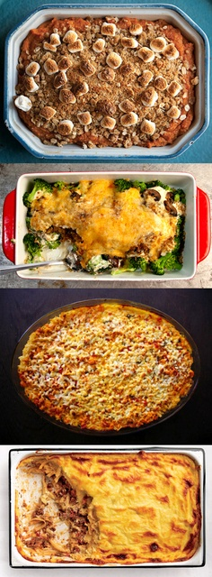 20 simple, satisfying casseroles, from turkey tetrazzini to Mexican sopa seca.
