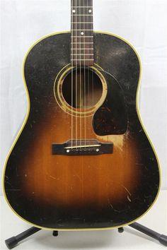 VINTAGE c.1950 Gibson J-45 Acoustic Jumbo Guitar SJ Binding VERY NICE