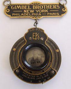 ❥ Gimbel Bros. / Eastman Kodak Advertising Camera lens pin