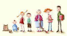Elina Ellis Illustration: Nimbus and his family (character development)