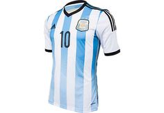 adidas Youth Argentina Messi Home Jersey 2014