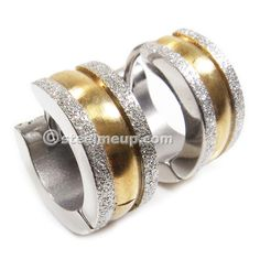 Large collection of high quality stainless steel men jewelry. Tiny Stud Earrings, Hoop Earrings, Gold Stripes, Ear Rings, Zodiac Signs, Pairs, Wedding Rings, Stainless Steel, Engagement Rings