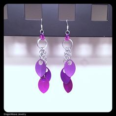 A personal favorite from my Etsy shop https://www.etsy.com/listing/471129489/ombre-purple-scalemaille-drop-earrings