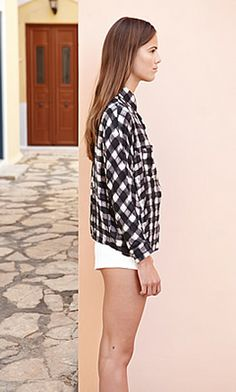 Black Check Shirt - Plümo Ltd