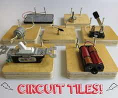 For all the wee Edisons and Teslas to be, circuit tiles are the best! These are a great way to introduce people to circuits in a fun, ridiculous, iterative way. ...