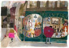 "Ejemplo de ""Le Merveilleux Dodu-Velu-Petit '(El Maravilloso Fluffy pequeño blando) por Beatrice Alemagna"
