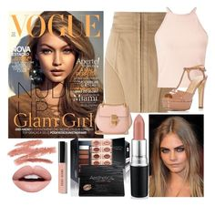 """""""Nude Lip"""" by lizf99 ❤ liked on Polyvore featuring beauty, Bobbi Brown Cosmetics, Nevermind, Balmain, Miss Selfridge, Sergio Rossi and Chloé"""