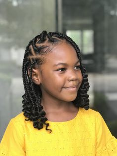 Kids Individual Braids Black Girl Hairstyles For Kids Braids Individual Kids Box Braids Hairstyles, Lil Girl Hairstyles, Black Girl Braided Hairstyles, Black Kids Hairstyles, Natural Hairstyles For Kids, Woman Hairstyles, Hairstyle Ideas, Individual Braids Hairstyles, Toddler Hairstyles