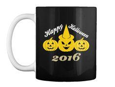 Happy Halloween 2016 Black T-Shirt Front
