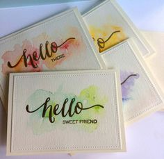 Watercolor Card Sets