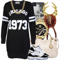 A fashion look from October 2014 featuring MICHAEL Michael Kors tote bags, Michael Kors watches and Coach necklaces. Browse and shop related looks.