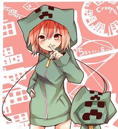 Tags: Anime, Minecraft, Creeper (Minecraft), Aya Usagi  http://www.zerochan.net/Aya+Usagi