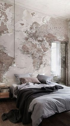 Our Classic World Map Mural is a beautiful design that is akin to old retro style textbook maps combining wonderful colour with superb detail all over. This is a glorious mural that will give you that World Map Mural, World Map Wallpaper, Home Wallpaper, Office Wallpaper, World Map Bedroom, World Map Decor, Trendy Wallpaper, Wallpaper Ideas, World Maps