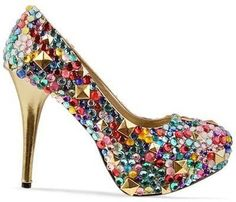 This is cute! You could even buy cheap shoes and glue studs on!