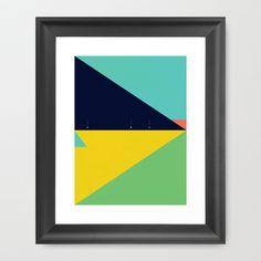 Secret Surf Map (Low Tide) Framed Art Print by Matthew Korbel-Bowers - $37.00