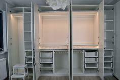 Szafa Pax Ikea, czyli garderoba w naszej sypialni - Projekt Dom Ikea Closet, Pax Closet, Pax Wardrobe, Built In Wardrobe, Wardrobe Organisation, Home Organization, Ikea Interior, Interior Decorating, Wall Nook