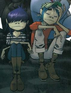 Noodle and Stu :3 (don't ship them)