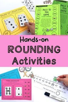 Rounding Numbers Activity Pack is designed to provide you and your students with 13 hands-on, differentiated activities to develop rounding number skills. Tasks have been carefully created to meet standards for Grades 2 to 4 and will build proficiency, fluency and confidence with this difficult concept. ( Grade 2, Grade 3, Grade 4) Rounding to the nearest 10, 100, 1000 worksheets. #rainbowskycreations Rounding Activities, Number Activities, Hands On Activities, Teaching Numbers, Rounding Numbers, Teaching Math, Teaching Ideas, Learning Resources, Fun Learning