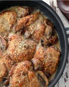 This one-pan mushroom Asiago chicken recipe brought streams of people in from the hallway to our test kitchen. Everyone wanted to know what smelled so good!  - Everyday Dishes & DIY