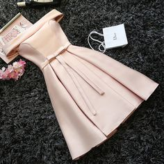 Bow Prom Dress,Off the Shoulder Prom Dress,Fashion Homecoming