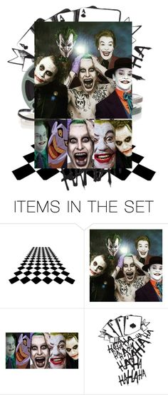 """""""The Many Faces Of Joker"""" by farrahdyna ❤ liked on Polyvore featuring art"""