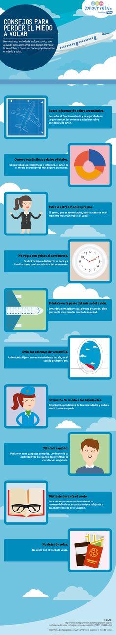 Valora este post Hola: Una infografía sobreConsejos para perder el miedo a volar. Vía Un saludo  Anuncios Relacionado