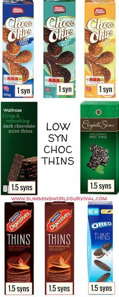 #slimmingworld #lowsyn Syn values for chocolate thins. Visit for more tips and tricks!
