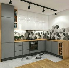 White Gray theme kitchen