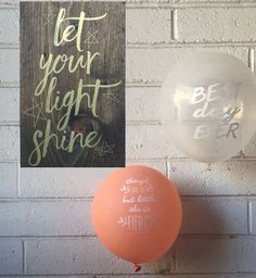 Let Your Light Shine Wooden Sign
