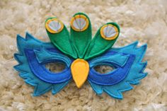 Handmade Peacock Mask Children Dress Up by Leahsdressupshop, $25.00