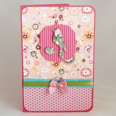 Bird card, by Dee Caria. I made this one for my daughter. Bird Cards, Envelopes, I Card, To My Daughter, Tags, Mailing Labels