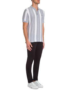 Polo Masculina - Lacoste - Cinza e Branco - Shop2gether Cinza E Branco,  Lacoste 840383c975