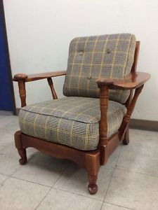 Cushman Colonial Club Lounge Lodge Cabin Maple Chair | EBay