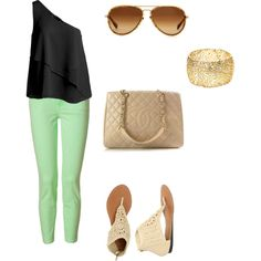 casual day, created by brittkneeleigh on Polyvore