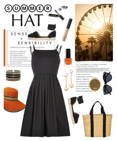 """""""Top It Off: Summer Hats"""" by glamorous09 ❤ liked on Polyvore featuring Farrow & Ball, Bomedo, Louche, Castañer, Joie, Eloquii, Bobbi Brown Cosmetics, NARS Cosmetics, Max Factor and Le Specs"""