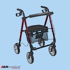 Podpórka rehabilitacyjna 4-kołowa, aluminiowa. PRESTIGE