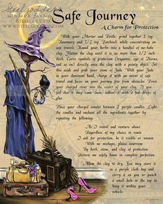 Safe Journey - Magic Spell - Book of Shadows - Wicca Spells - Magick - Ritual Spell - Witchcraft - Witchcraft Spell - Wicca Book of Shadows Wicca Witchcraft, Magick Spells, Wiccan Witch, Witch Rituals, Candle Spells, Tarot, Magic Spell Book, Spell Books, Fete Halloween